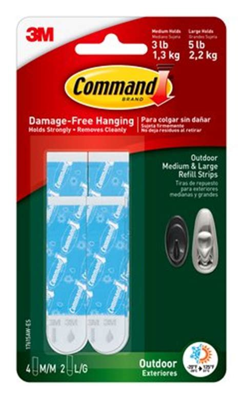 3m command assorted strips walmart com command outdoor assorted refill strips 3m united states
