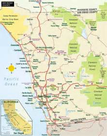 San Diego Area Map by San Diego County Map