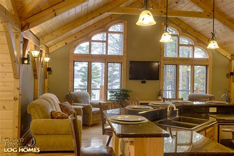 Open Floor Plan Log Homes Golden Eagle Log Homes Log Home Cabin Pictures Photos