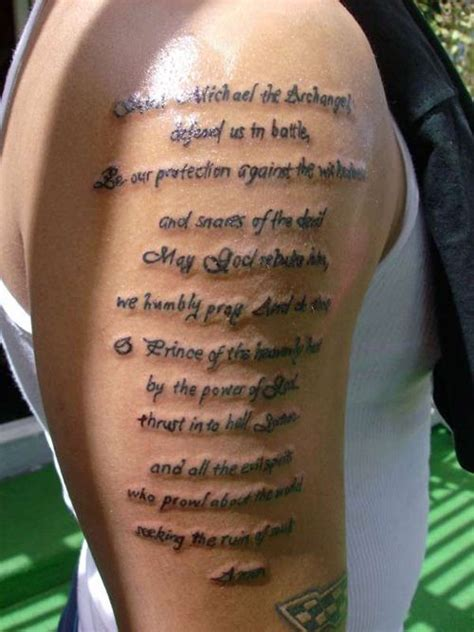 religious tattoo quotes for men getting forearm tattoos for will make your arm look