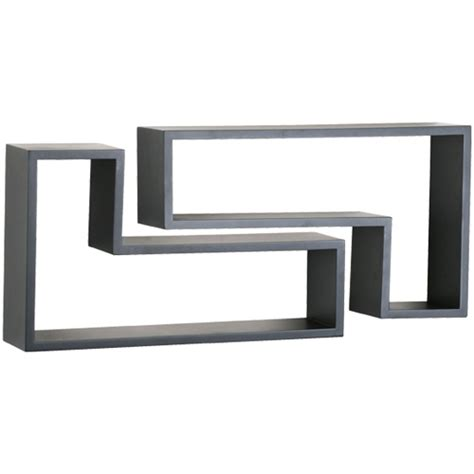 l shaped shelves set of 2 in wall mounted shelves