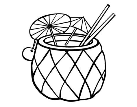 imagenes locas para dibujar dibujo de c 243 ctel pi 241 a para colorear dibujos net
