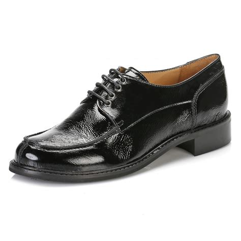 tower womens black leather lace up shoes pg 1060 tower