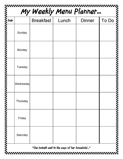 free editable printable meal planner thm friendly editable menu planner 15 styles free
