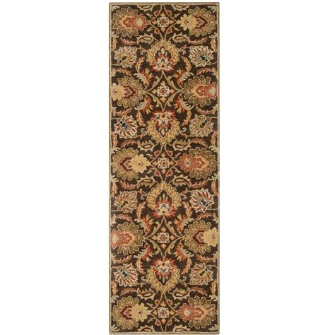 12 foot runner rugs artistic weavers brown 3 ft x 12 ft rug runner jhn 1028 the home depot