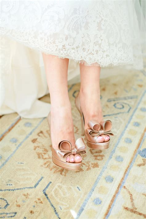 Wedding Shoes With Bows by Taupe Wedding Shoes With Bows Elizabeth Designs