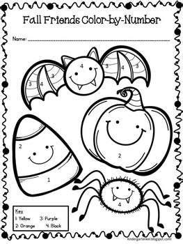 halloween coloring pages pre k halloween color by number freebie teacherspayteachers