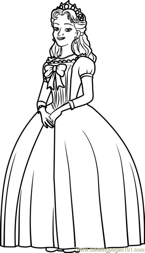queen miranda coloring page free sofia the first