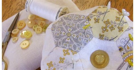 Sew Bright Alpine Quilting by Fitzbirch Crafts Hexagon Patchwork Pin Cushion