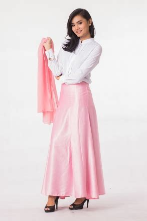 2 pieces front button blouse with flared skirt