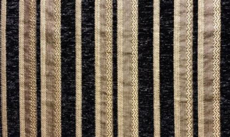 Black Chenille Upholstery Fabric - chenille black stripe upholstery drapery fabric by the