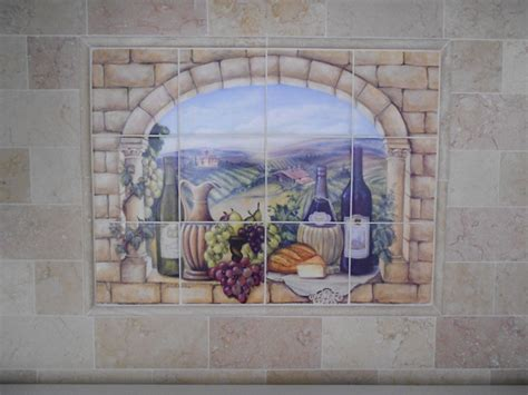 kitchen backsplash tile murals decorative tile backsplash kitchen tile ideas tuscan wine tile mural