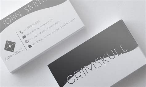 black and white card template black and white business card template by nik1010 on