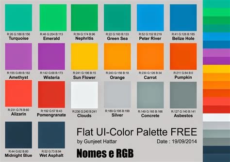flat ui color coreldraw flat ui color palette free corel na