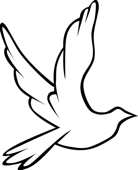 white dove template for doves flying clipart crafts