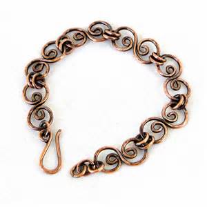 Copper Handmade Jewelry - handcrafted jewelry hammered copper bracelet antiqued