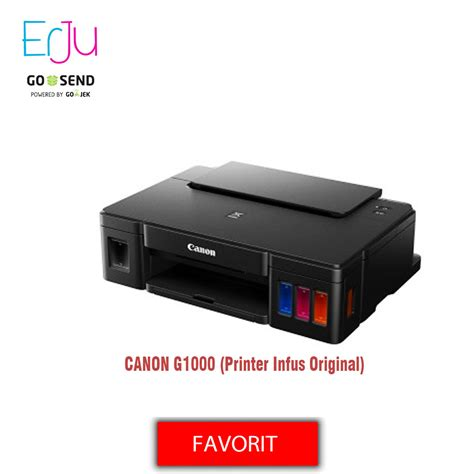 Printer Canon G1000 jual canon g1000 printer tinta infus original erju