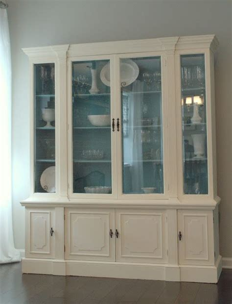 25  best ideas about White China Cabinets on Pinterest   Hutch makeover, Painted china hutch and