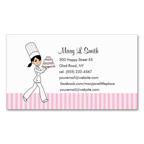 pastry chef business card templates custom baker calling card pastries business card