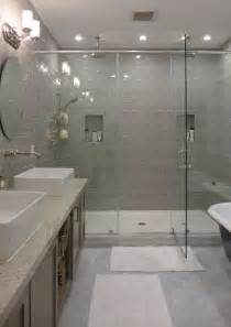 Master Bath Showers Best 20 Gray Shower Tile Ideas On Pinterest Large Tile