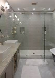 Master Bathroom Showers Contemporary Master Bathroom With Shower Daltile Rittenhouse Square Matte Desert Gray 3 In