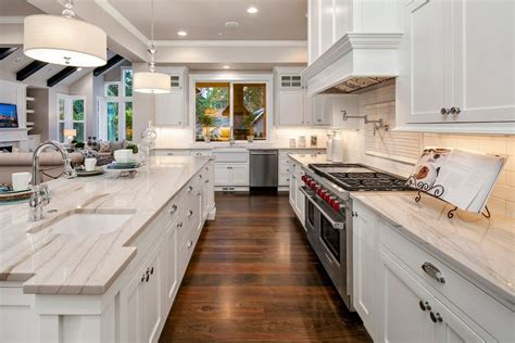 custom kitchen backsplash countertop and flooring tile 27 luxury kitchens costing more than 100k remodeling expense