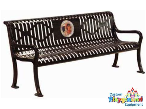 personalized benches 6ft personalized sublimated diamond pattern bench