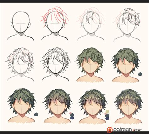 hairstyles color drawing hair sketch to coloring by kawacy on deviantart