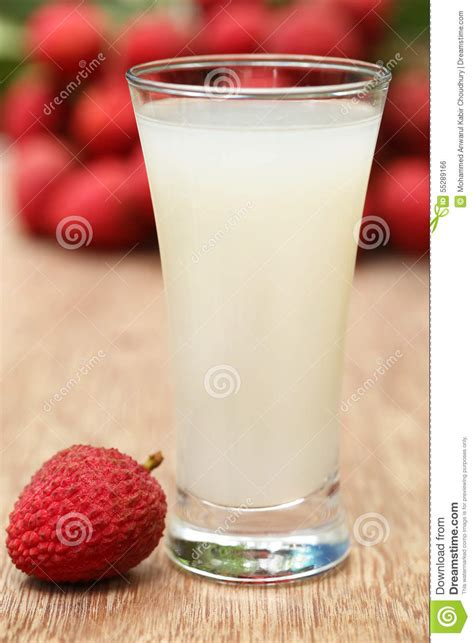 lychee juice lychee juice with fruits stock photo image 55289166