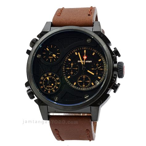 Jam Tangan Swiss Army Time Kulit Coklat harga sarap jam tangan swiss army sa 4176 time kulit coklat tua
