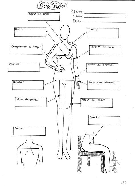 Ficha Técnica da Cliente | Costura - moldes e modelos