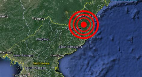earthquake north korea artificial earthquake probable nuclear test detected in