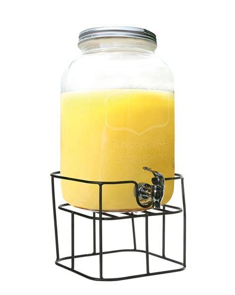 contenitori con rubinetto dispenser vetro con rubinetto e stand 7 5 l