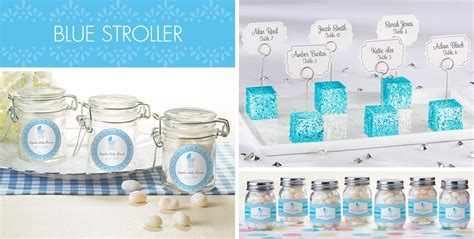 Blue Baby Shower Supplies by Blue Stroller Baby Shower Supplies City