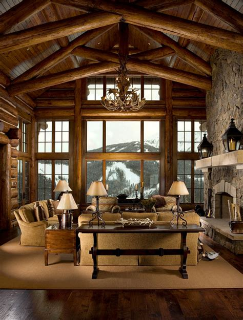 log cabin living room ideas inspired log cabin interiors brewster home