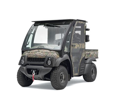 Accessories For Kawasaki Mule by Side X Side Cab Enclosure Black Frame White Roof