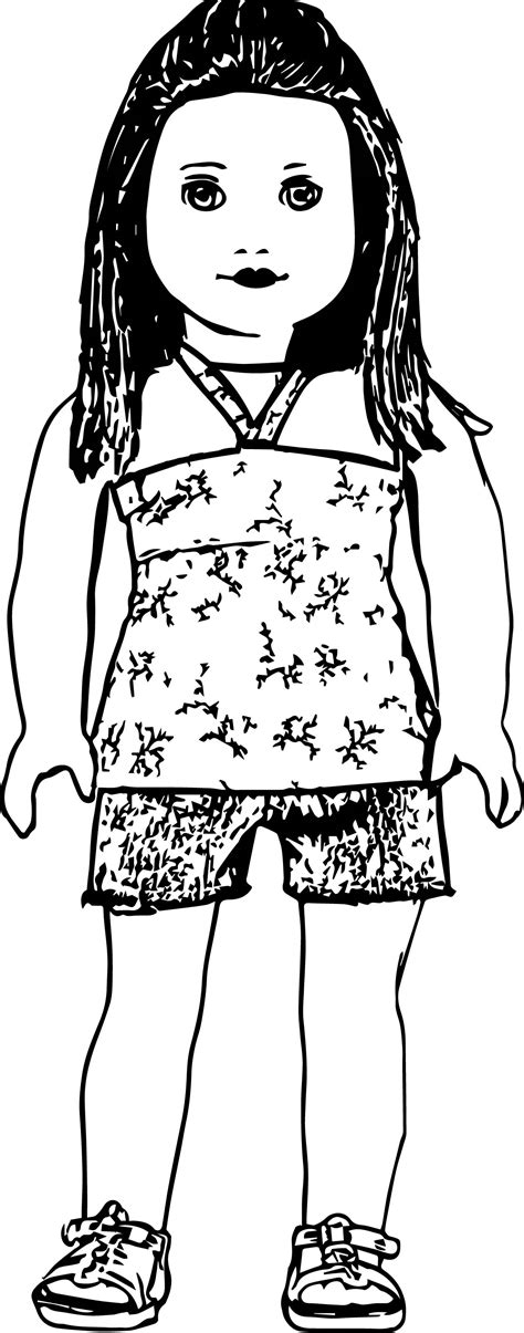 ag bandeau doll coloring page wecoloringpage