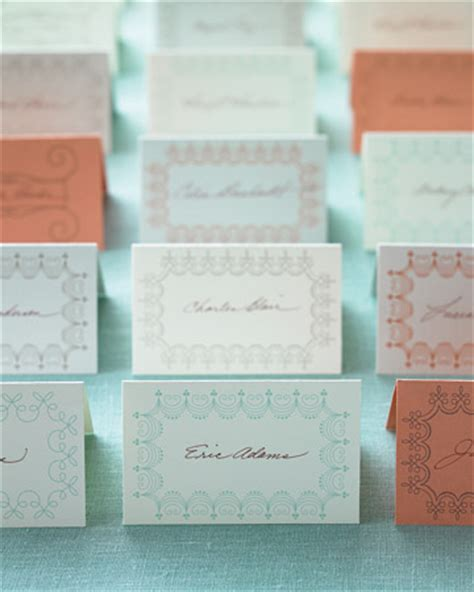 place card templates for weddings martha stewart weddings