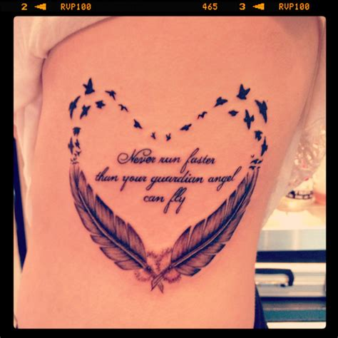 tattoo feather heart in love with this design would probably get a different