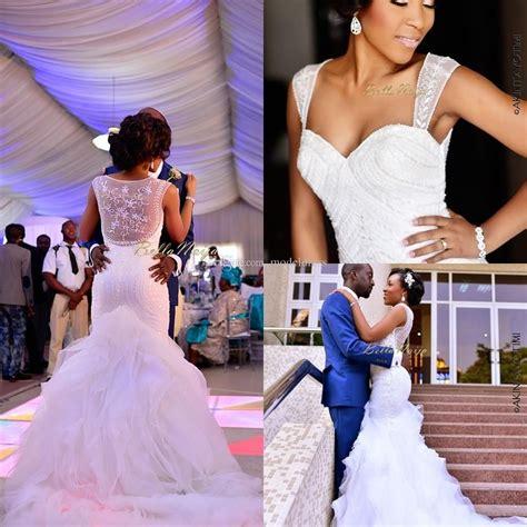 bella naija weddings 2018 new nigerian wedding dresses sheer straps sequins