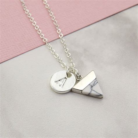 Marble Necklace marble initial necklace by emporium notonthehighstreet