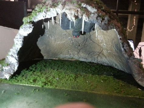 How To Make A Paper Mache Cave - diorama bat in the cave using arduino use arduino for