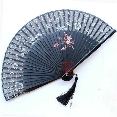 silk folding hand fans antique hand fan styles black antique chinese bamboo