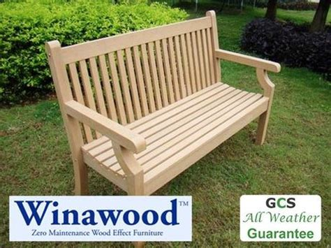 all weather garden bench winawood all weather benches 100 maintenace free