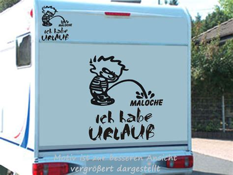 Aufkleber Am Auto Entfernen Ohne Fön by Ich Habe Urlaub Lustiger Aufkleber F 252 R Wohnmobile