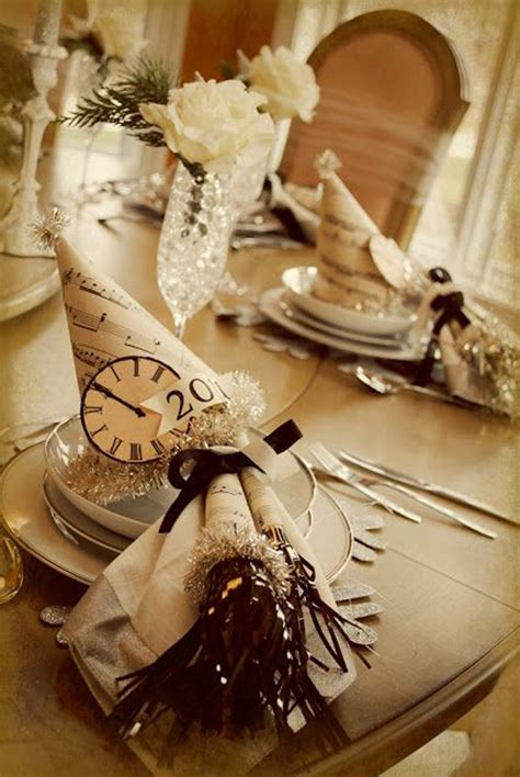 new years table decorations 20 wonderful new year ideas home design and