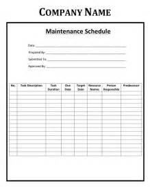 maintenance html template free preventive maintenance schedule templates free