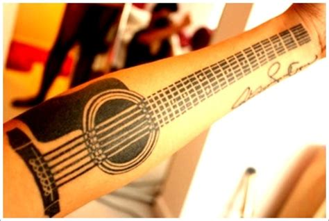 guitar tattoo designs tribal guitar tattoo acoustic