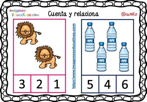 Imagenes Educativas Cuenta Y Relaciona | fichas para aprender a contar 8 imagenes educativas