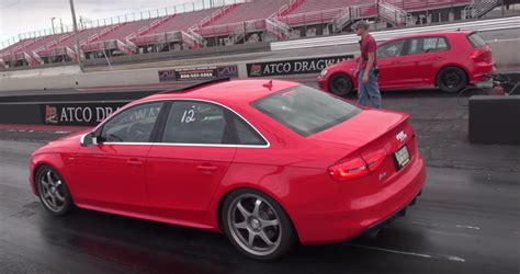 Golf R Quarter Mile by Gutted Golf 7 R With A Turbo Runs 10s Quarter Mile